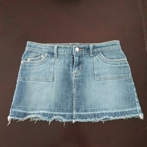 """So"" Stretch Jean Skirt"